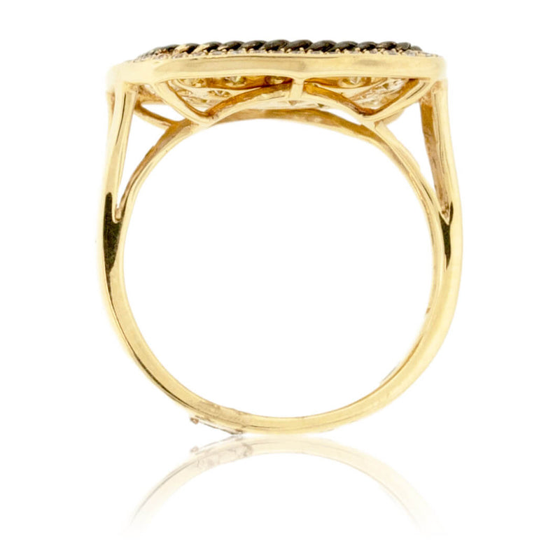 Fancy Yellow Diamond & Diamond Right Hand Ring
