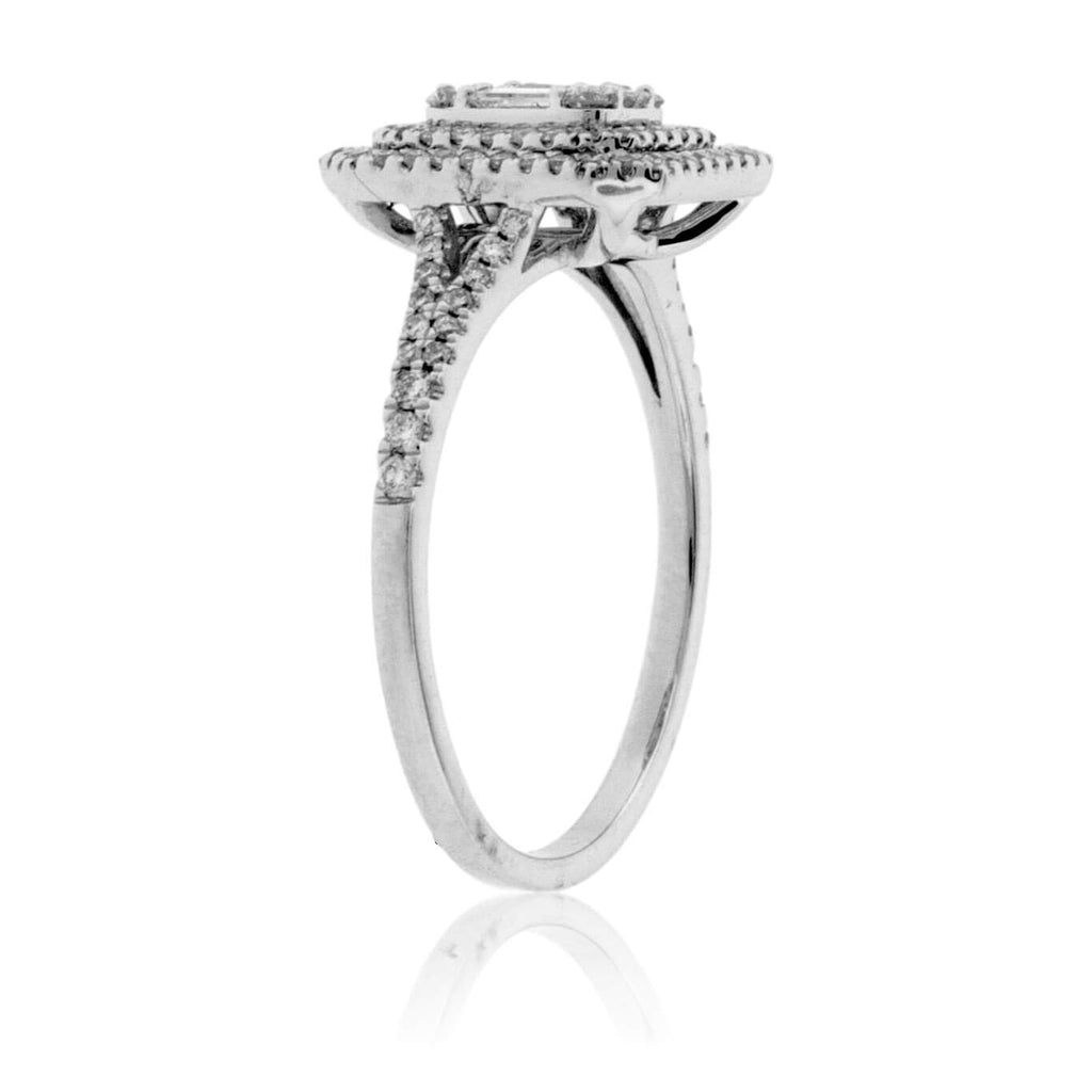 Radiant Shaped Diamond Cluster Style Ring