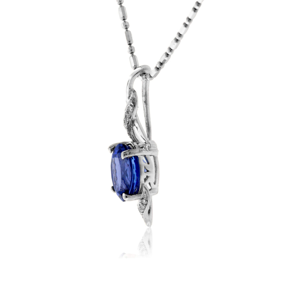 Oval Tanzanite & Diamond Pendant