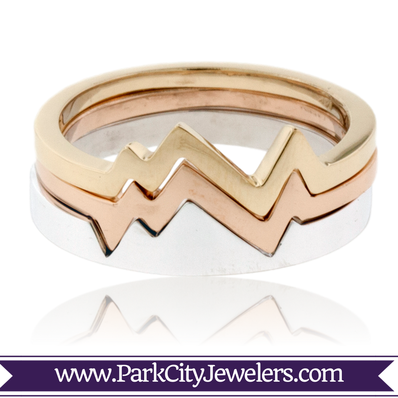 Stackable Mountain Band Ring 2