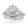 Antique Vintage Style Diamond Cluster Engagement Ring