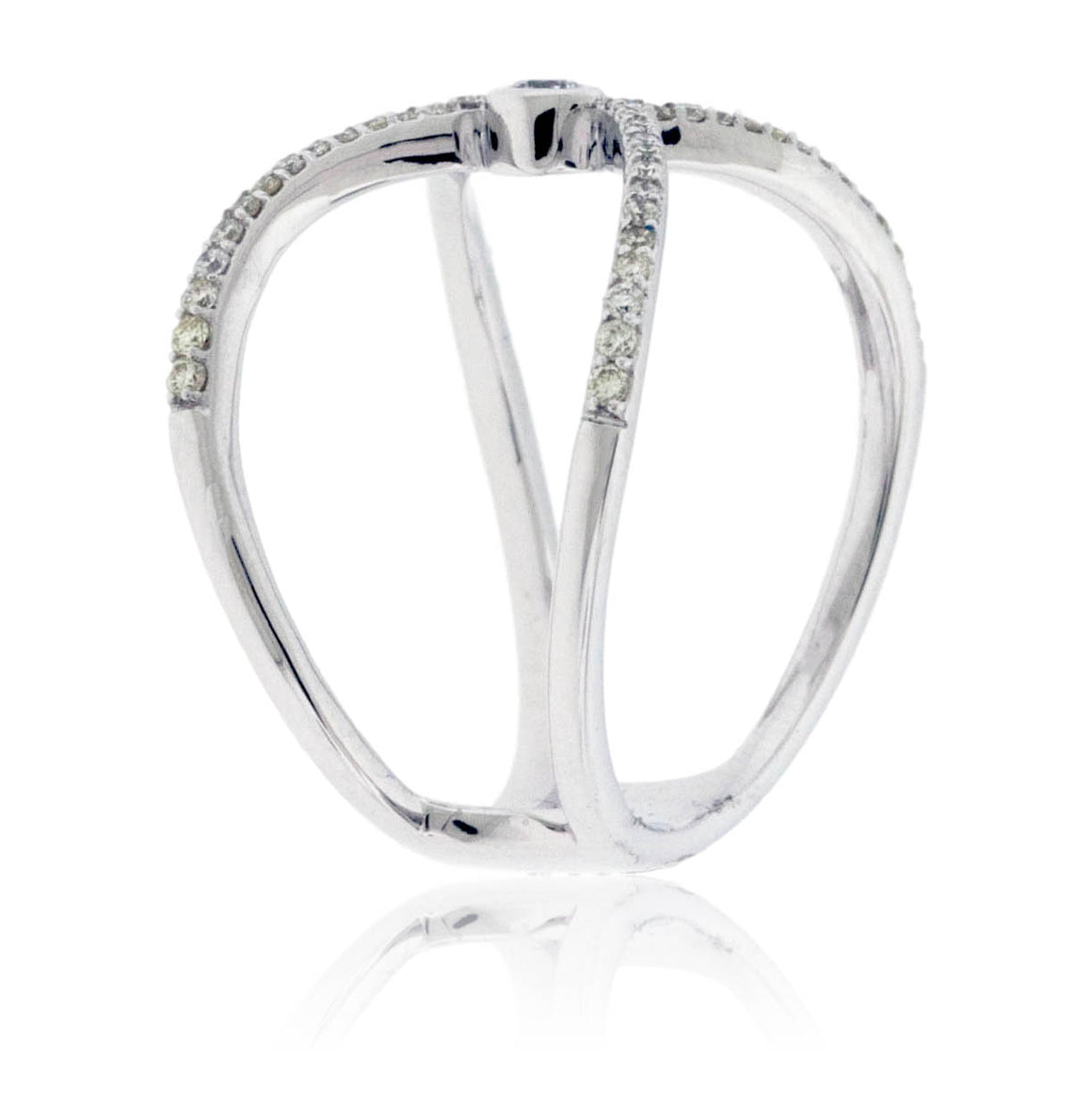 Draped Diamond Right Hand Ring