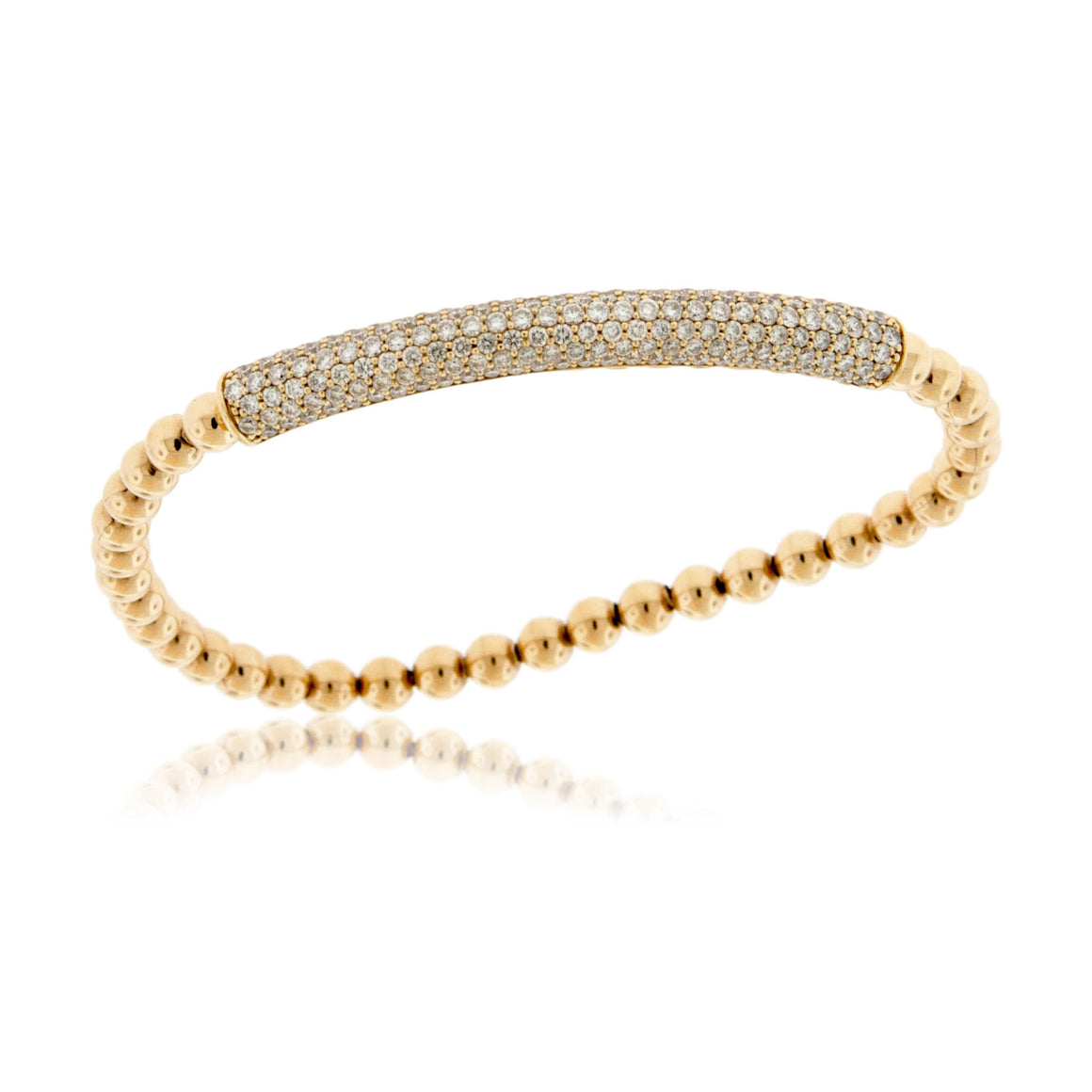 Yellow Gold Pave Diamond Bracelet