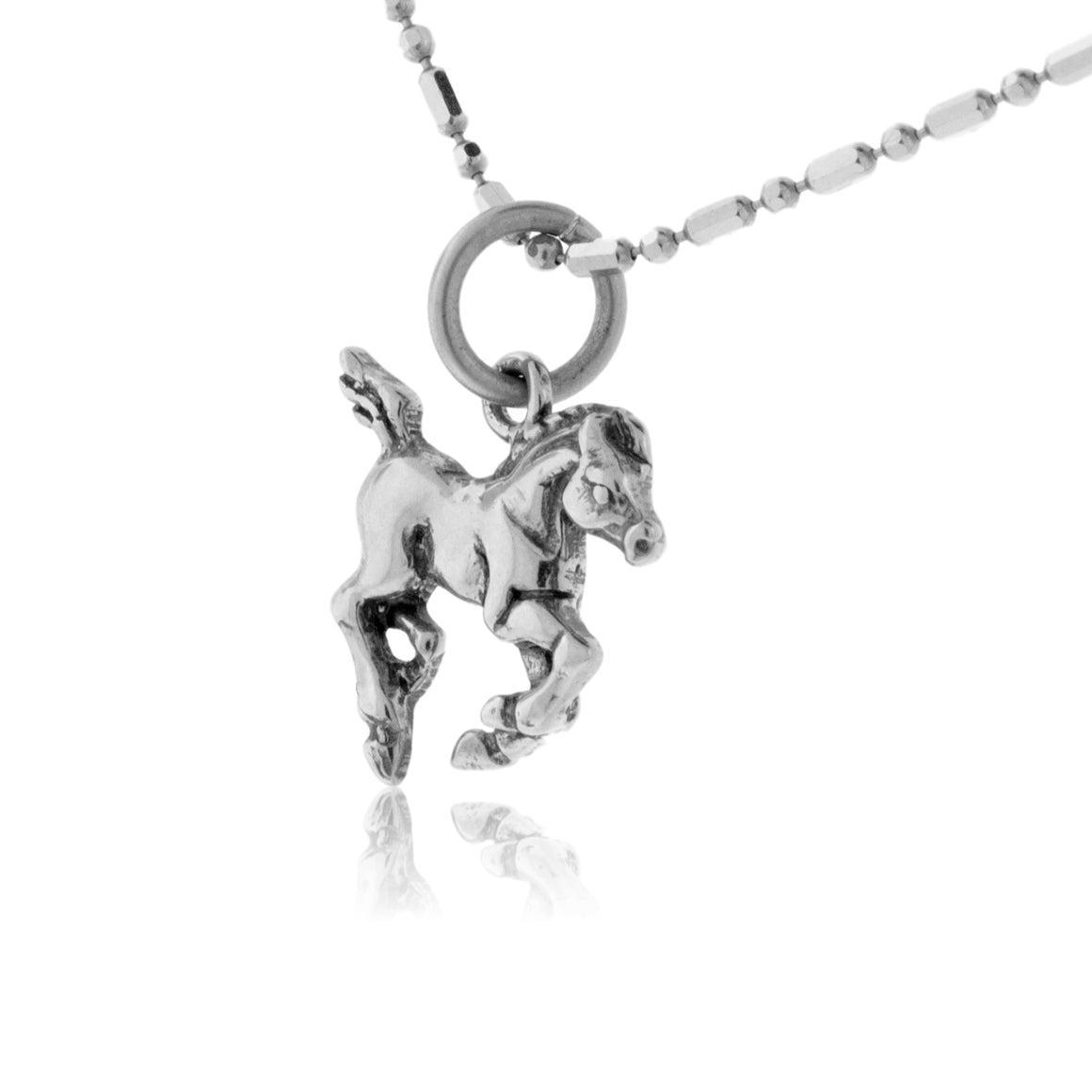 Running Colt Horse Necklace