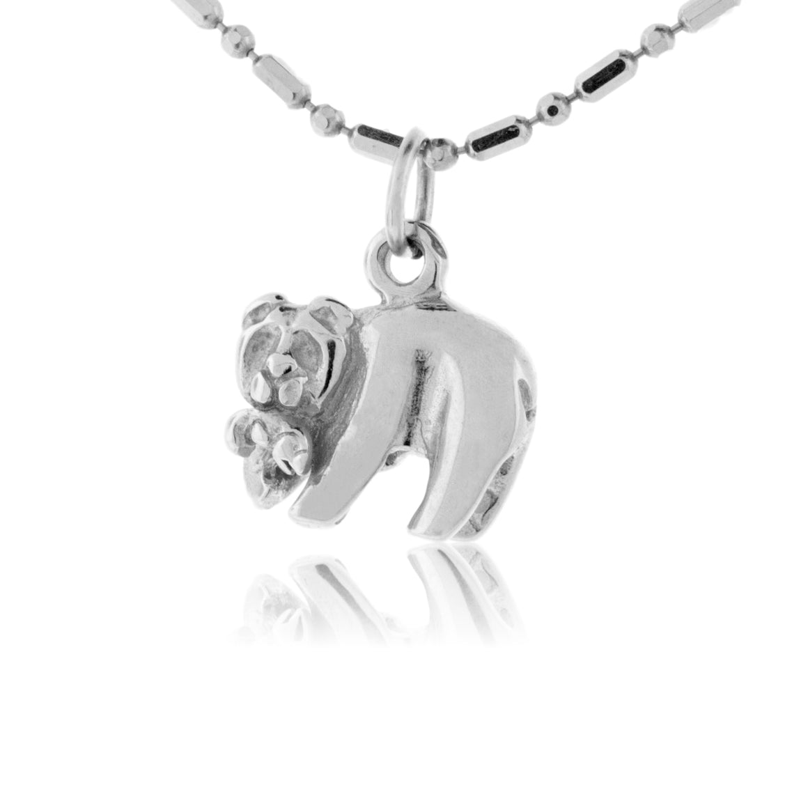 Sterling Silver Bear with Fish Charm