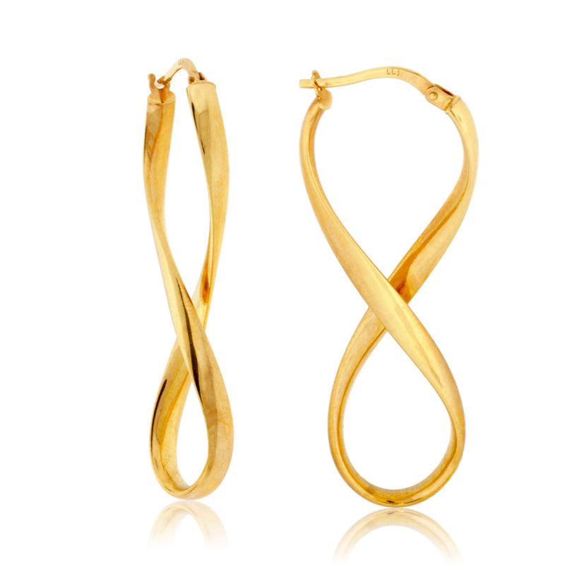 Polished Infinity Hoop Earrings