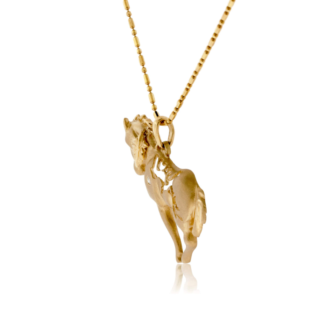 Horse and Eagle Gold Necklace