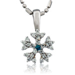 Domed Diamond Pave Snowflake Necklace