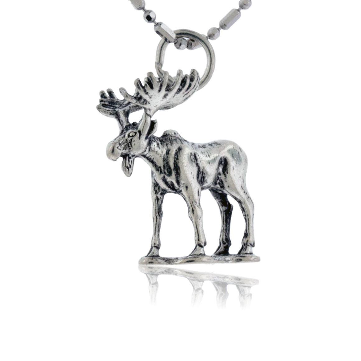 Sterling Silver Full Body Moose Pendant / Charm