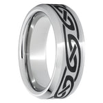 Serinium Beveled Edge Band with Knot Laser Engraving