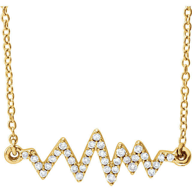 Mountain Ridgeline Diamond Necklace