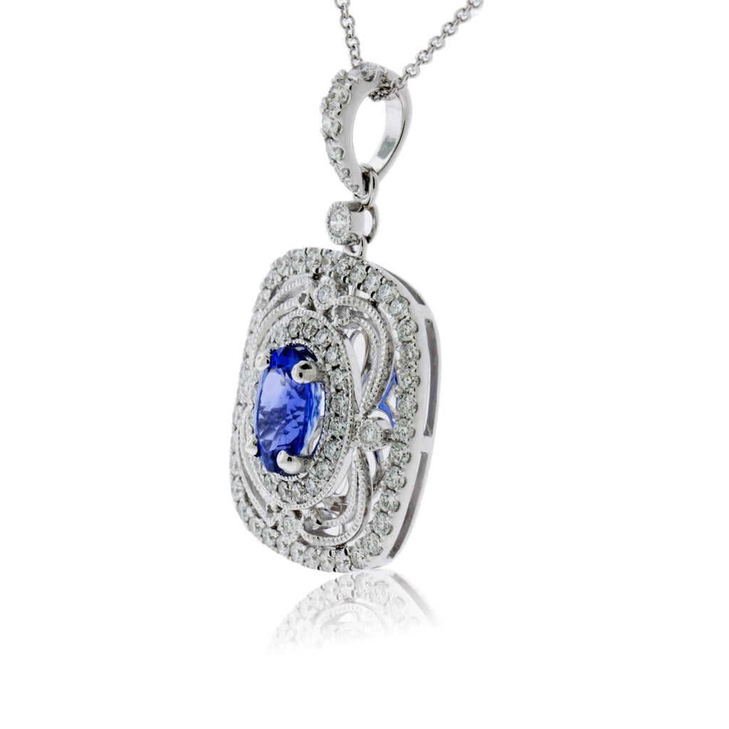 oval_tanzanite_diamond_pendant_white_gold