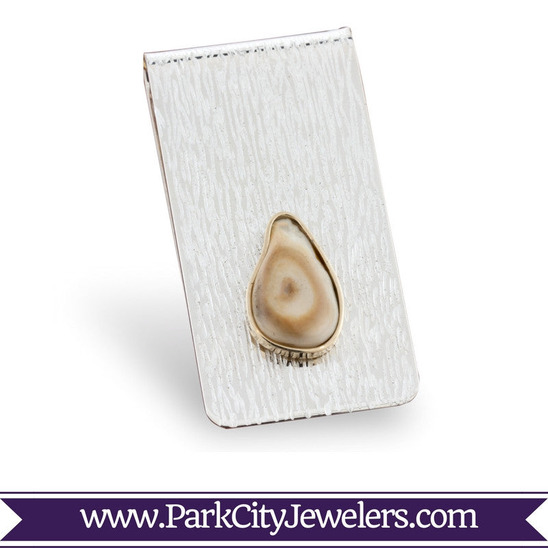Elk Ivory Money Clip Solitare Ivory