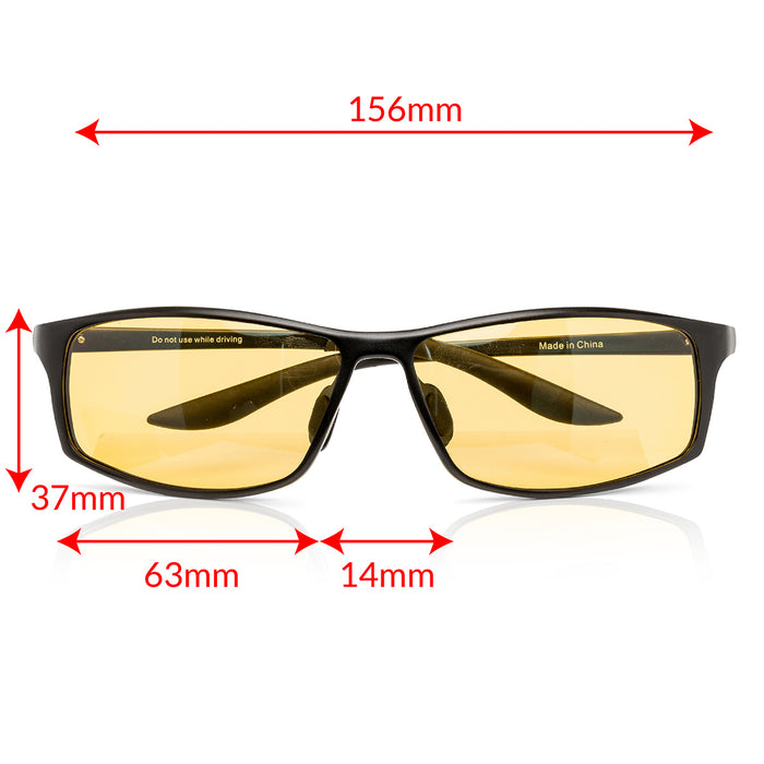 True Dark Daylight Glasses Elite Measurements