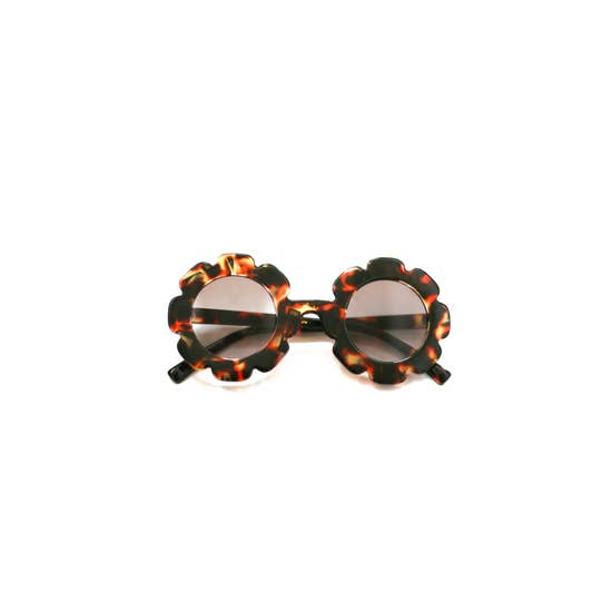 Blueberry Bay Brown Flower Sunnies