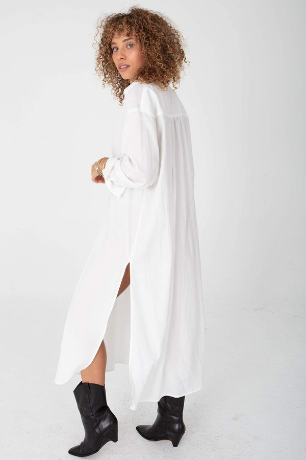 Stillwater Shirting Tunic - White