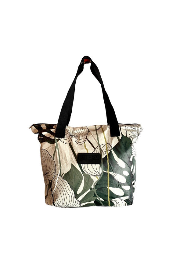Salt + Sea Zipper Tote  Green Floral