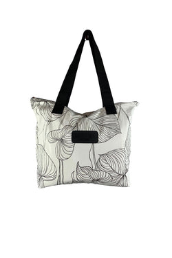 Salt + Sea Zipper Tote  Anthurium