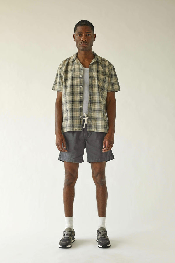 Corridor Inside Out Work Shirt - Natural Plaid