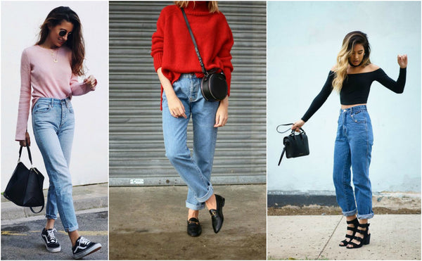 mom jeans look otoño invierno