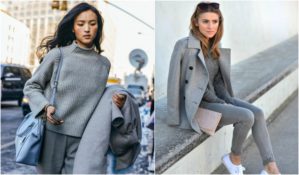 total grey outfits