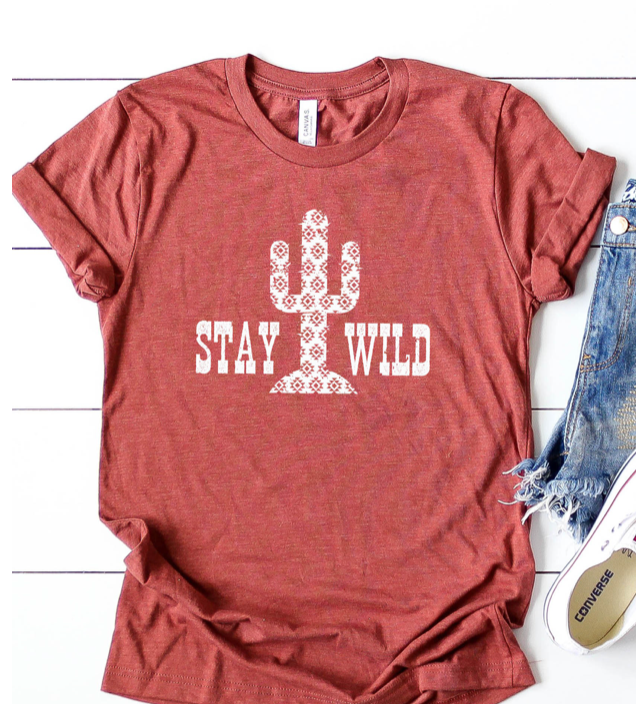 Stay Wild Tee - The GyPsY Barn Boutique
