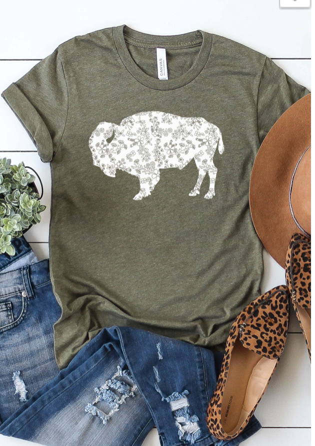 Floral Buffalo Olive