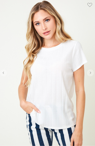 Basic Rib top Off White