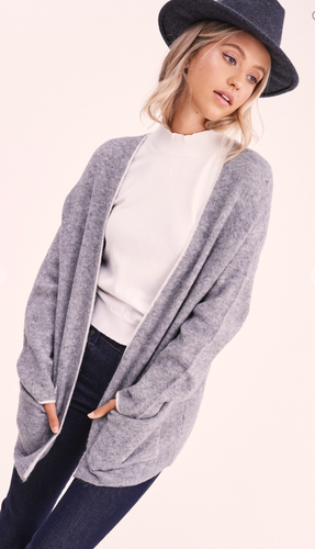 Cocoon Contrast Gray Cardi