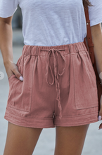 Pocket Tencel Shorts Pink