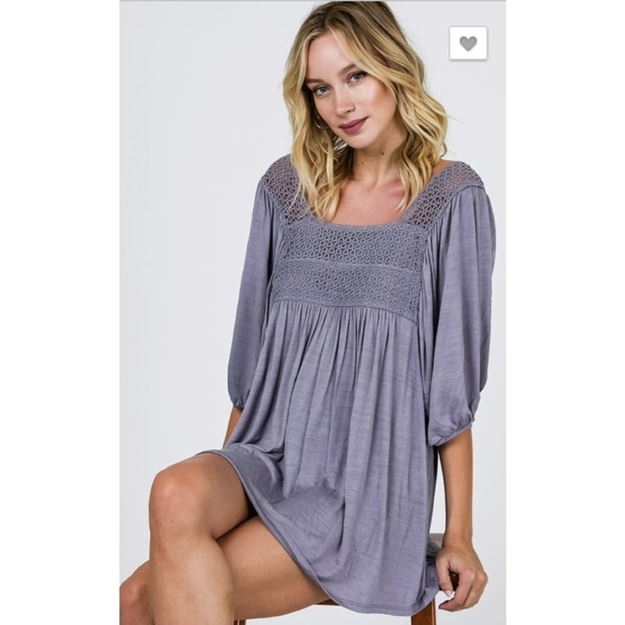 Babydoll Tunic Blue - The GyPsY Barn Boutique