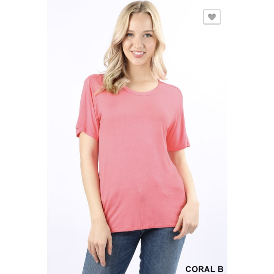 Basic Scoop Coral B - The GyPsY Barn Boutique