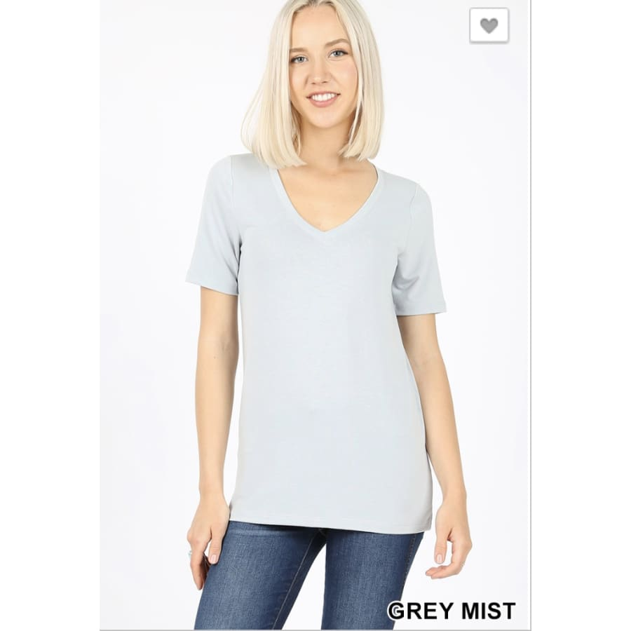 *Basic Tee Grey Mist - The GyPsY Barn Boutique