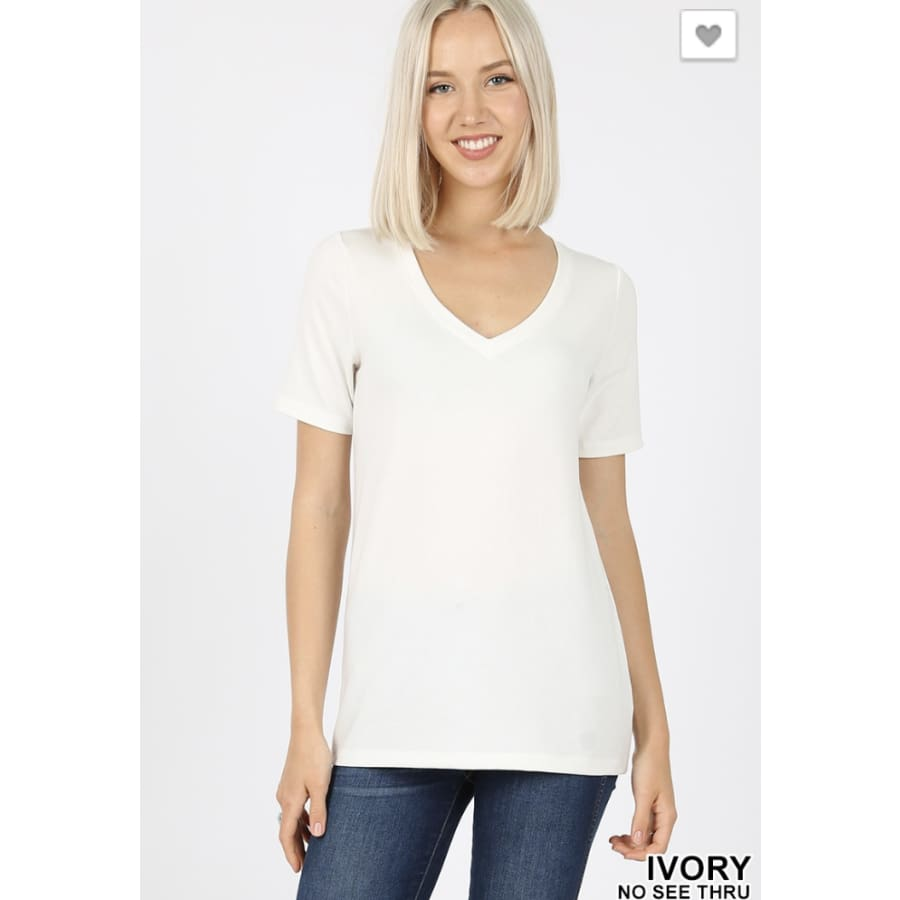 *Basic Tee Ivory - The GyPsY Barn Boutique