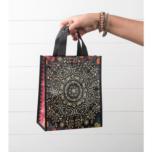Black and Cream Mandala Gift Bag - The GyPsY Barn Boutique