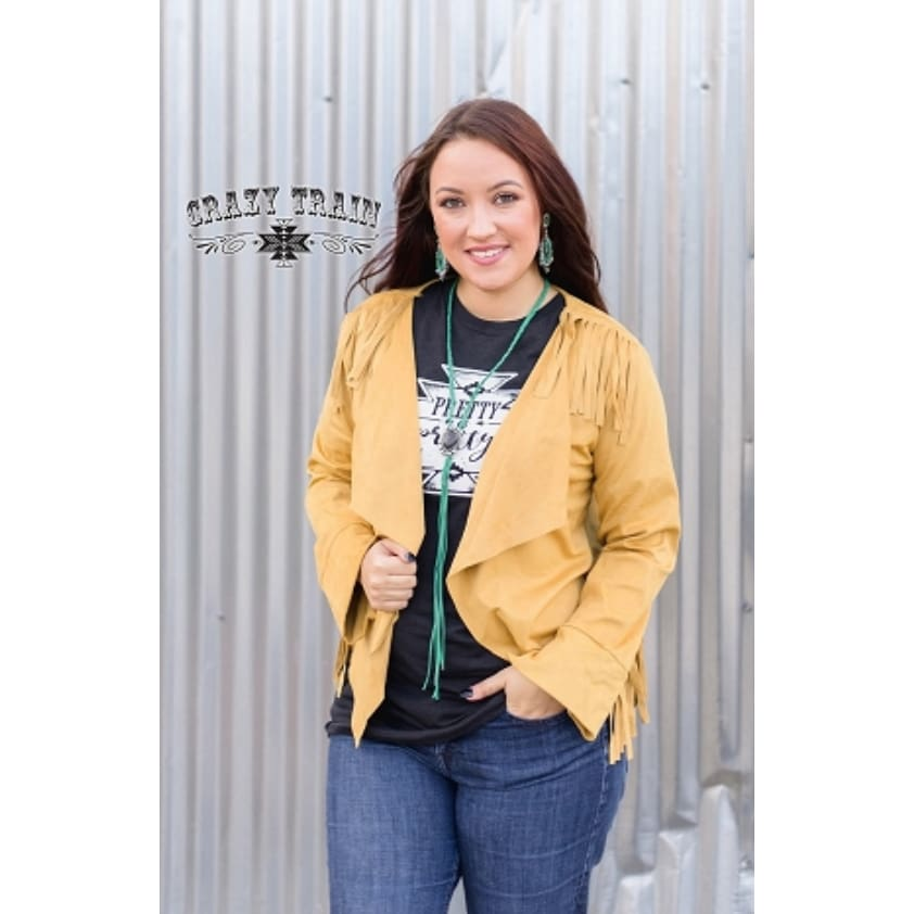 Buffalo Bill Blazer Mustard - The GyPsY Barn Boutique