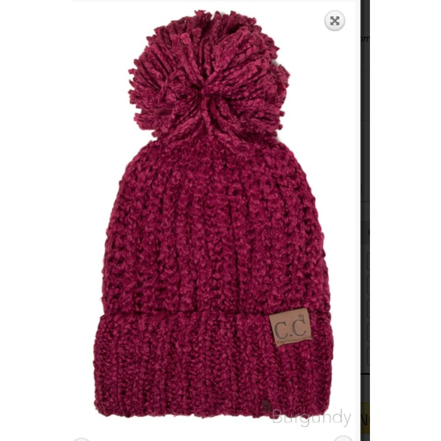 CC Ribbed Beanie with Pom - The GyPsY Barn Boutique