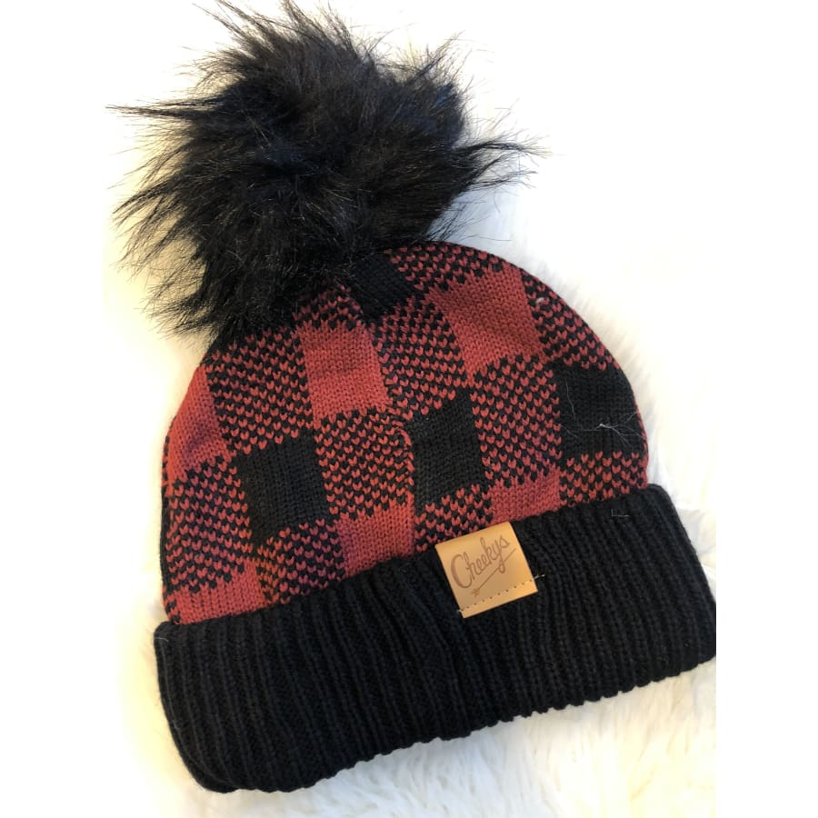 Cheekys Buff Plaid Beanie - The GyPsY Barn Boutique
