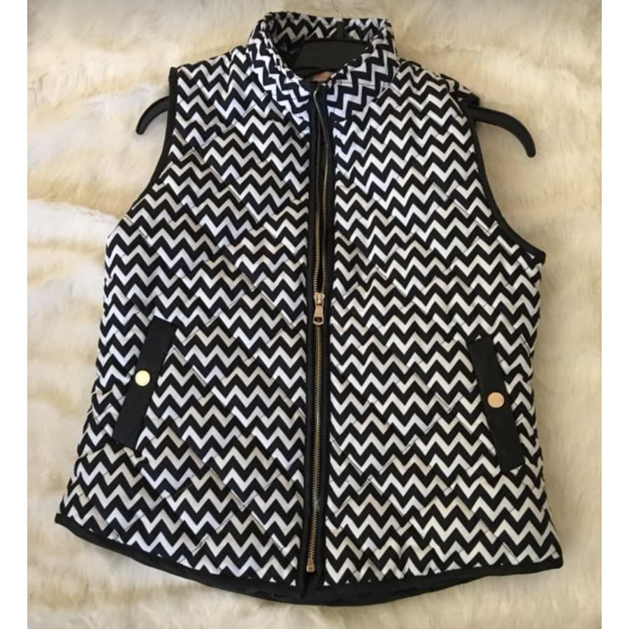 Chevron Print Vest - The GyPsY Barn Boutique