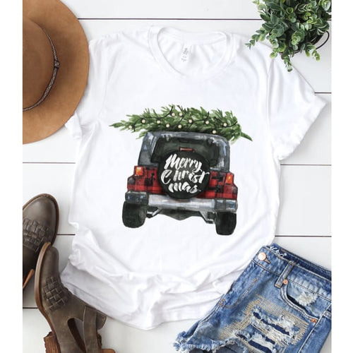 Christmas Jeep - Small - Top