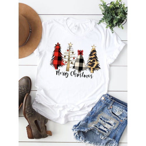 Christmas Trees Tee - Small - Top
