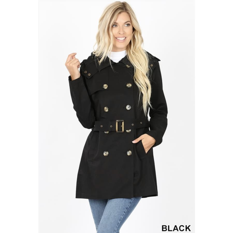 Dbl Breasted Jacket Black - The GyPsY Barn Boutique