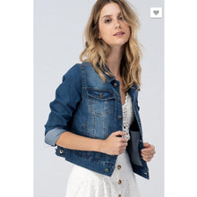 Denim Jacket Dark Denim - The GyPsY Barn Boutique
