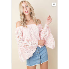 Eyelet Off the Shoulder - The GyPsY Barn Boutique