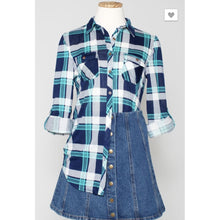 Flannel Navy/Teal - The GyPsY Barn Boutique