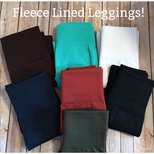 Fleece Leggings - Black - Pants