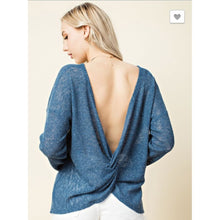 Gathered Back Blue - Small - Tops