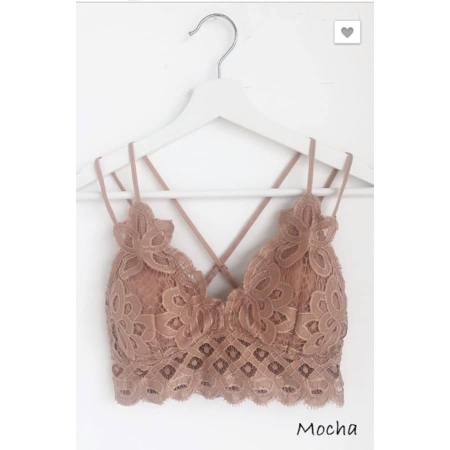 Lace Bralette Mocha - The GyPsY Barn Boutique