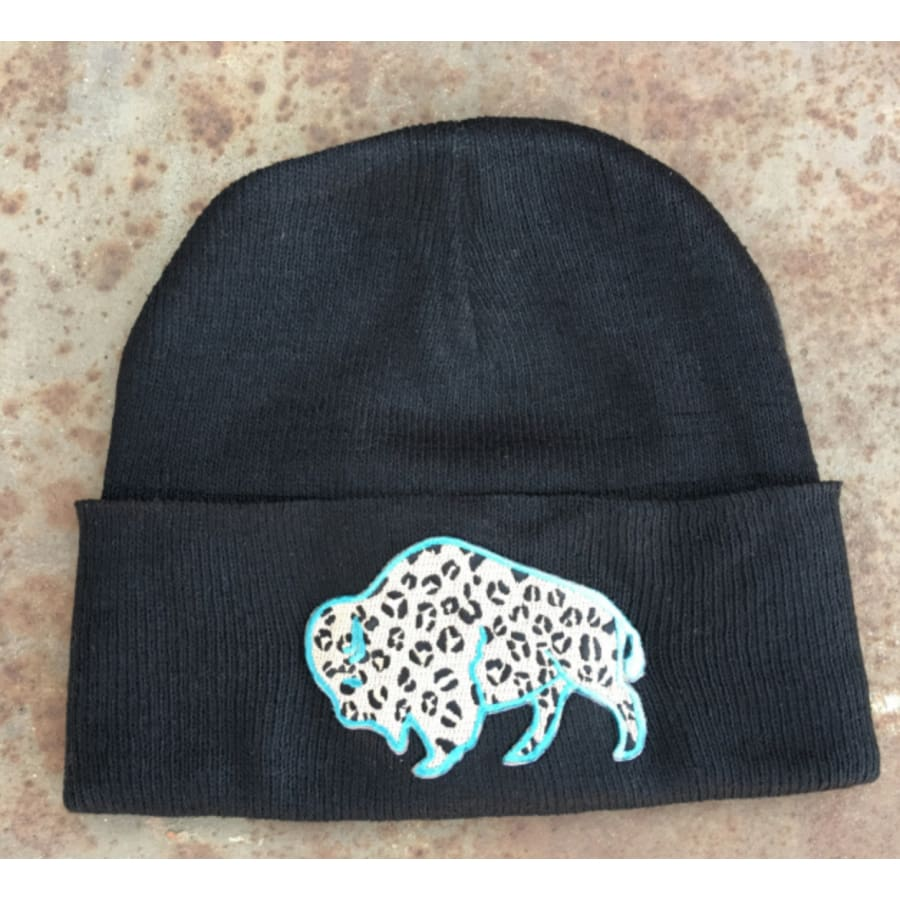 Leopard Buffalo Beanie - The GyPsY Barn Boutique