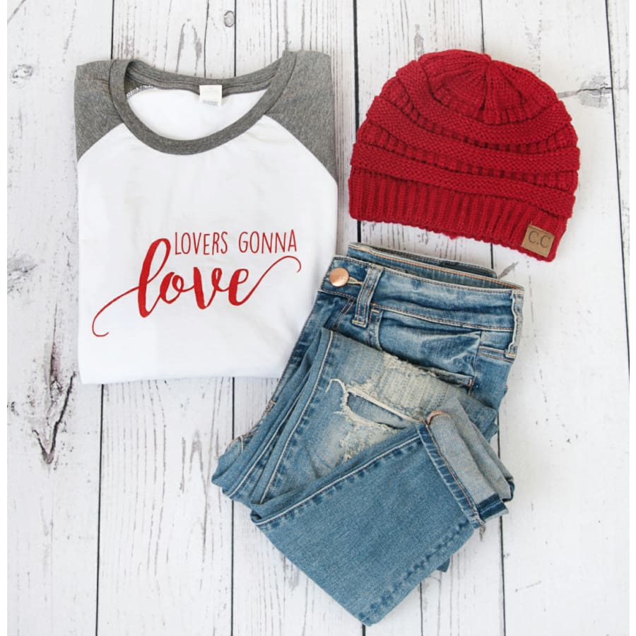 Lovers Gonna Love Raglan - The GyPsY Barn Boutique